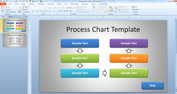 Process Map Template Powerpoint Luxury Free Simple Process Chart Template for Powerpoint