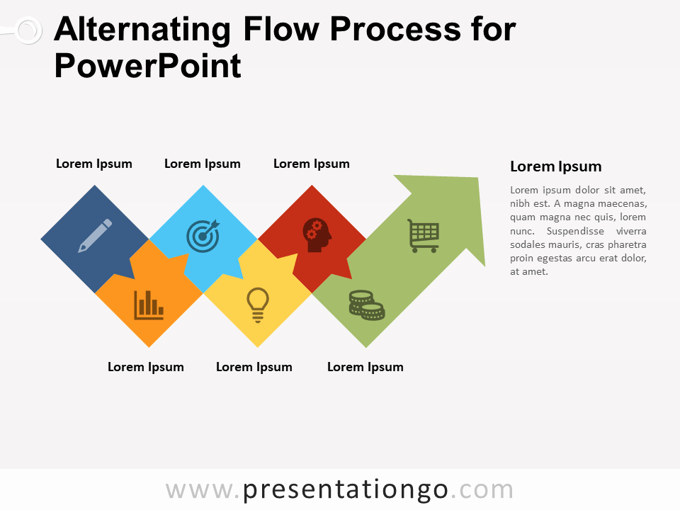 Process Map Template Ppt Fresh Alternating Flow Process for Powerpoint Presentationgo