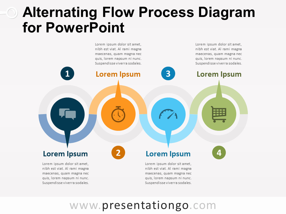 Process Map Template Ppt New Alternating Flow Process Diagram for Powerpoint