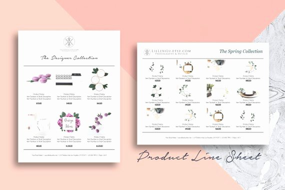 Product Catalog Template Word Awesome Line Sheet Word Template wholesale Catalog Simple & Elegant