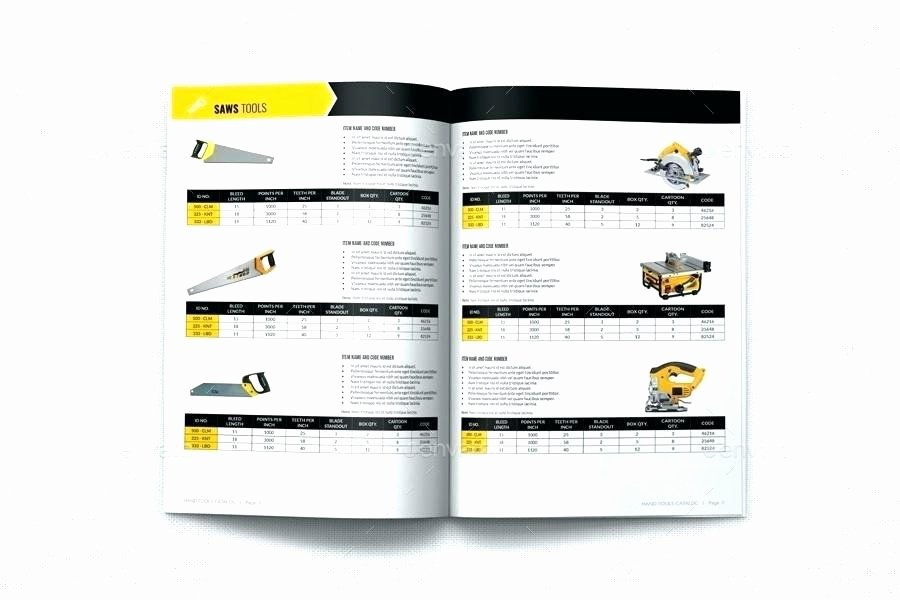 Product Catalogue Template Excel Elegant Brochure Pages Template Hand tools Products Catalog