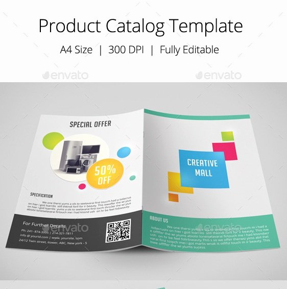 Product Catalogue Template Free Luxury 20 Nice Product Brochure Templates