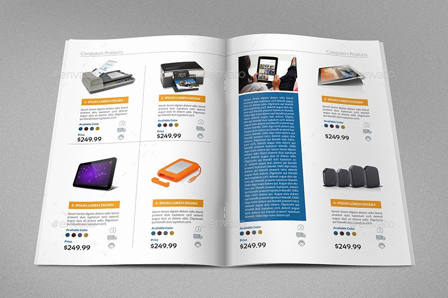 Product Catalogue Template Word Elegant Product Brochure Template