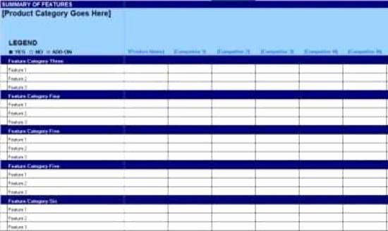 Product Comparison Template Excel Lovely 8 Product Parison Templates Excel Excel Templates