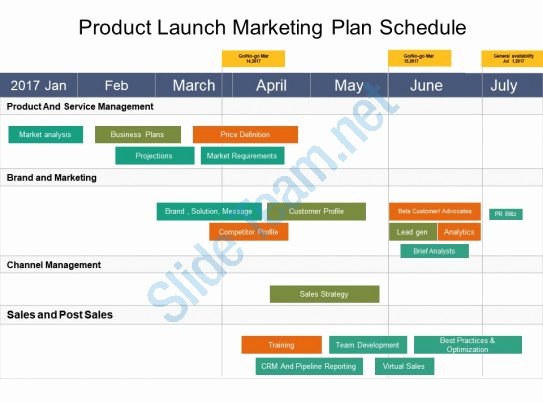 Product Launch Plan Template Luxury Product Launch Marketing Plan Schedule Example Ppt