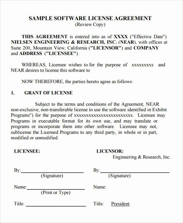 Product Licensing Agreement Template Elegant 12 License Agreement Templates Download for Free