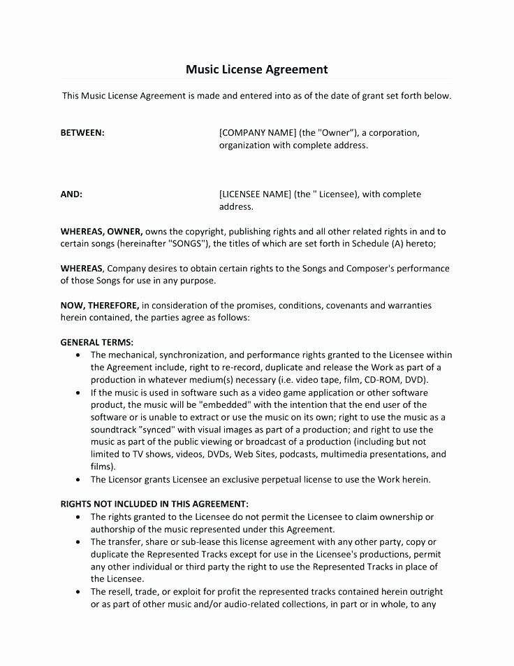 Product Licensing Agreement Template Inspirational Free License Agreement Template – Moonwalkgroup