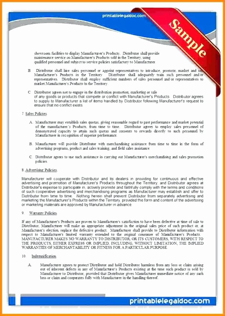 Product Licensing Agreement Template Lovely Free End User License Agreement Template Sample Work for