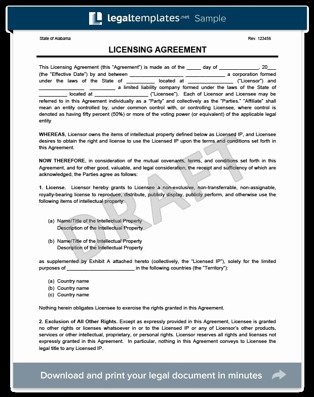 Product Licensing Agreement Template Unique 37 Elegant Content License Agreement Qe H