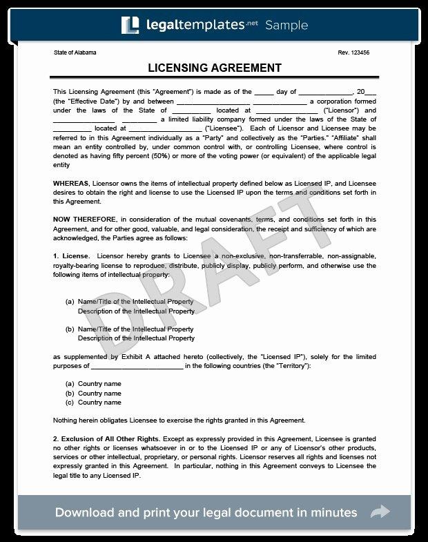 Product Licensing Agreement Template Unique 37 Elegant Content License Agreement Qe H
