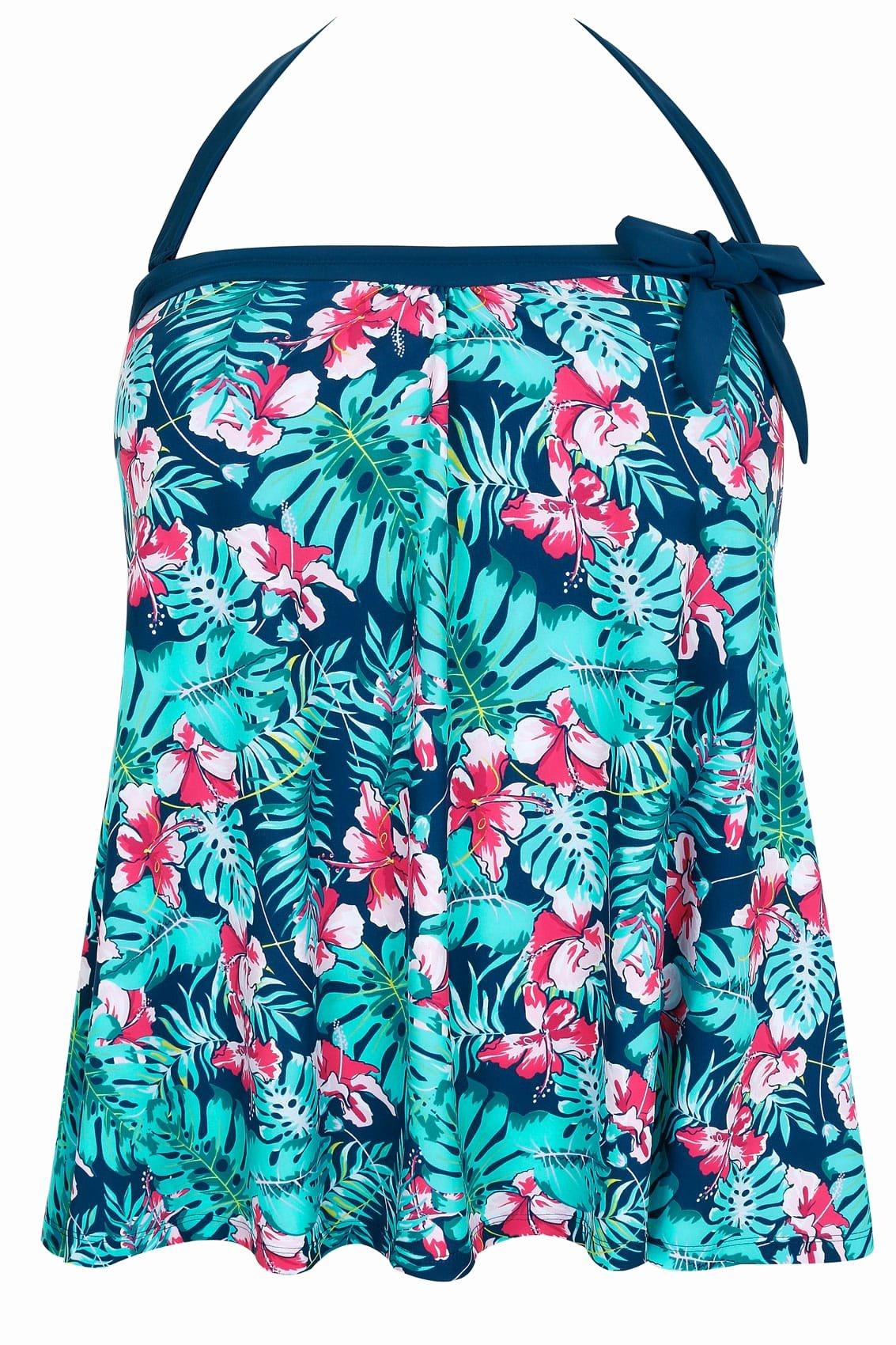 Product Line Card Template Elegant Green & Blue Tropical orchard A Line Tankini top Plus