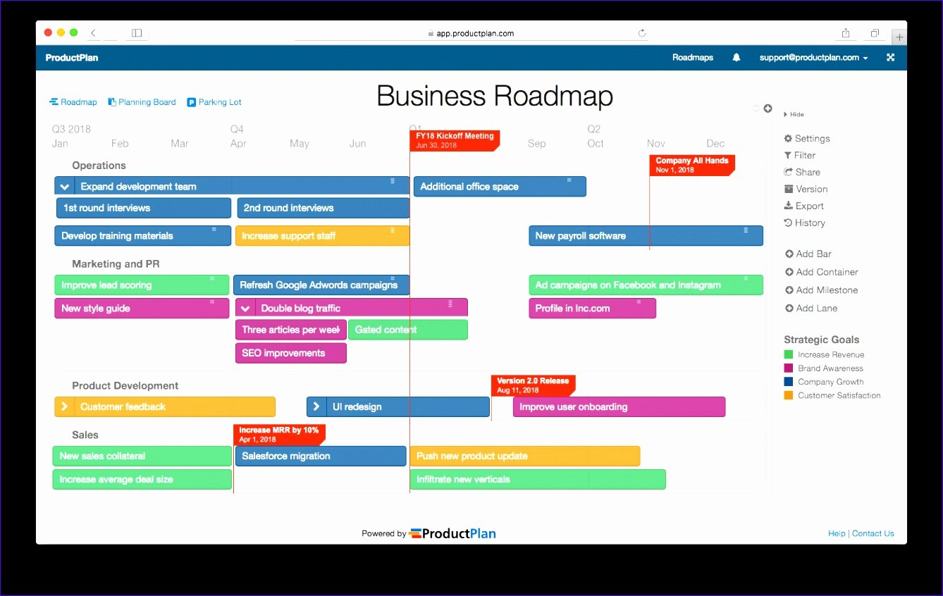Product Roadmap Template Excel Fresh 8 Roadmap Template Excel Exceltemplates Exceltemplates