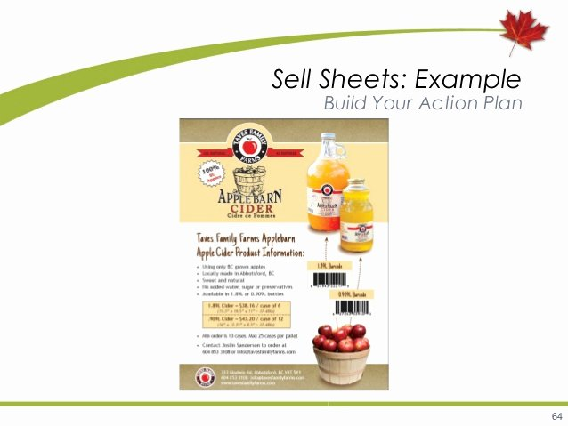 Product Sell Sheet Template Best Of Marketing B C Agri Food and Seafood Products