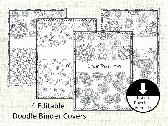 Professional Binder Cover Template Fresh Editable Binder Cover Templates Free Printable Covers