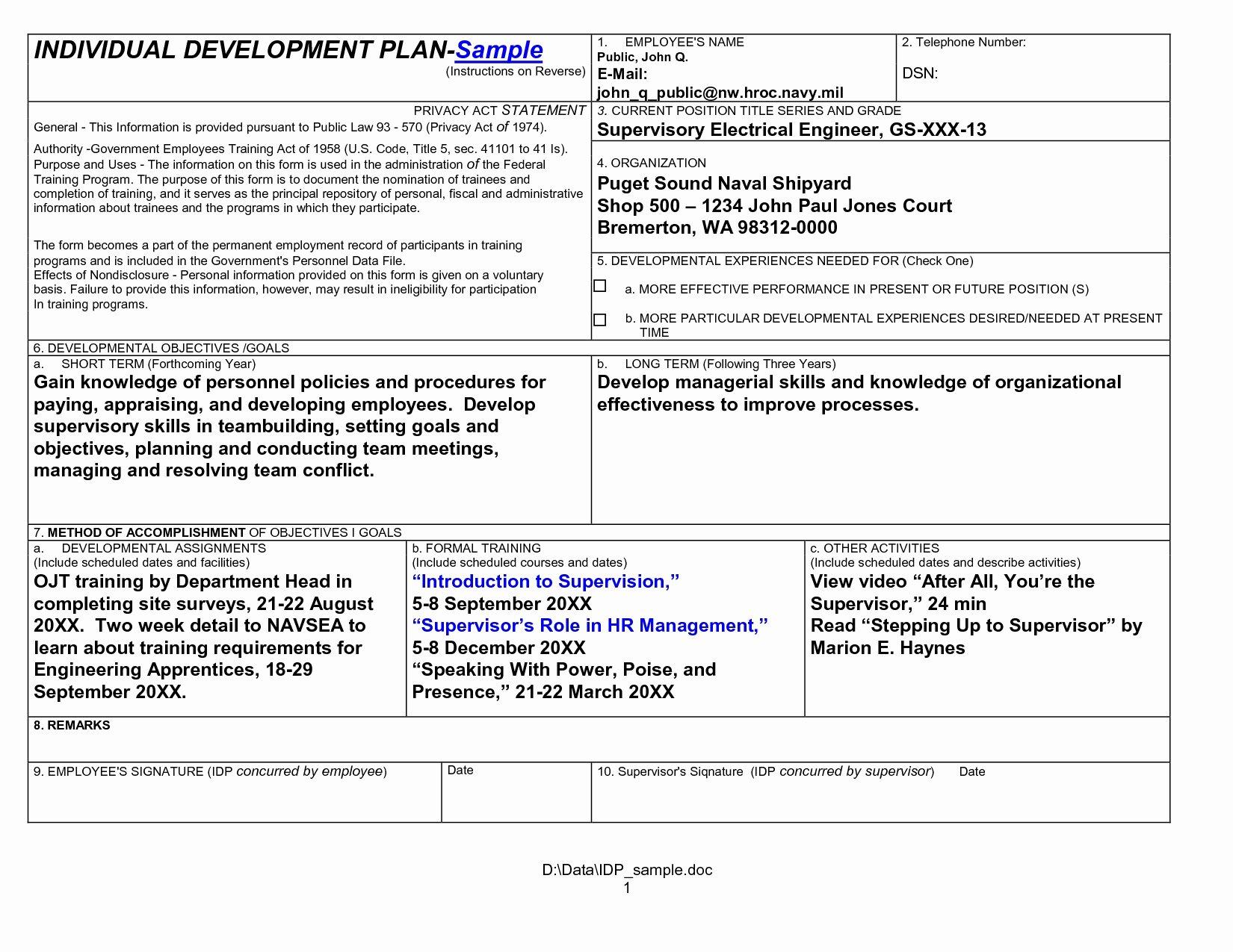 Professional Development Plan Template Beautiful Professional Development Plan Example Business
