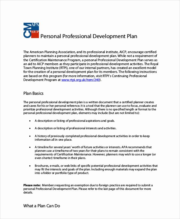 Professional Development Plan Template Elegant 10 Professional Development Plan Samples