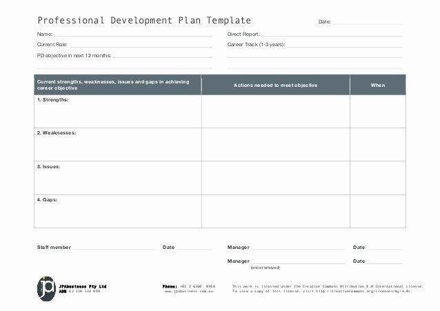 Professional Development Plan Template Elegant Jpabusiness Professional Development Plan Template