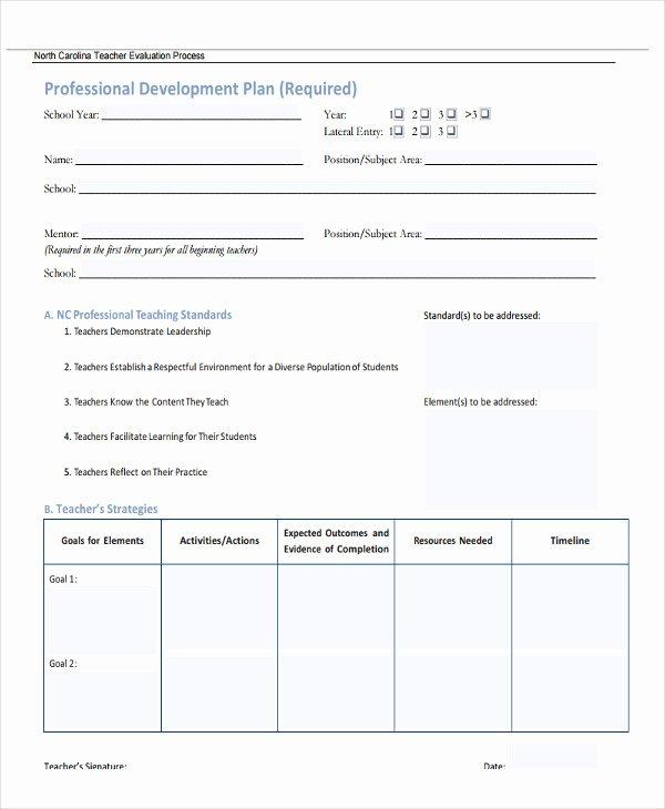 Professional Development Plan Template Lovely 22 Development Plan Templates