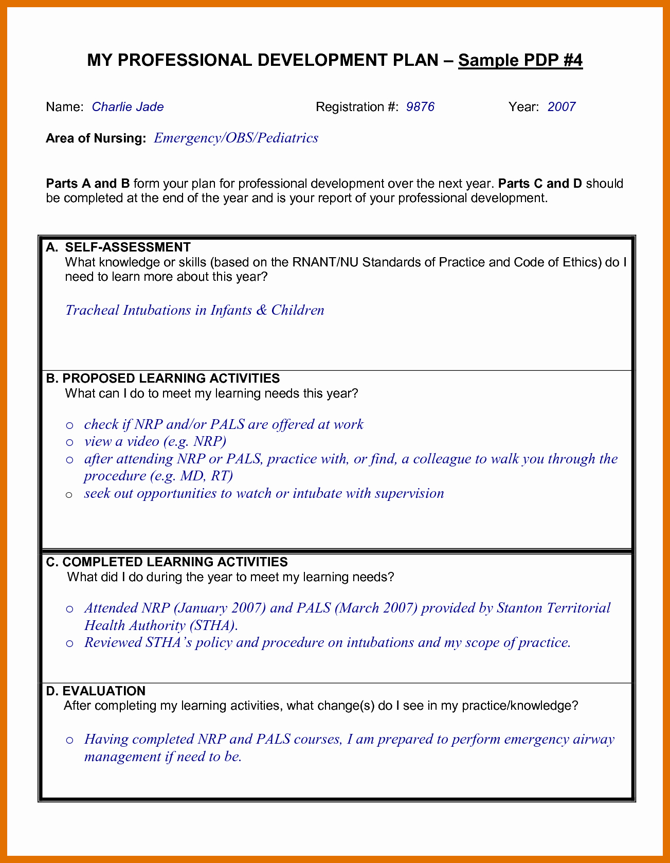 Professional Development Plan Template Luxury 4 5 Professional Development Proposal Sample