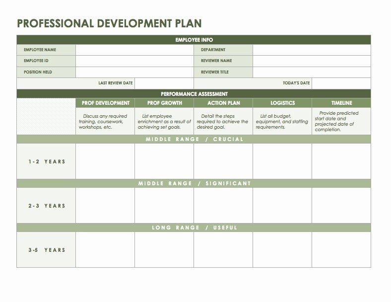 Professional Development Plan Template New Free Microsoft Fice Templates Smartsheet
