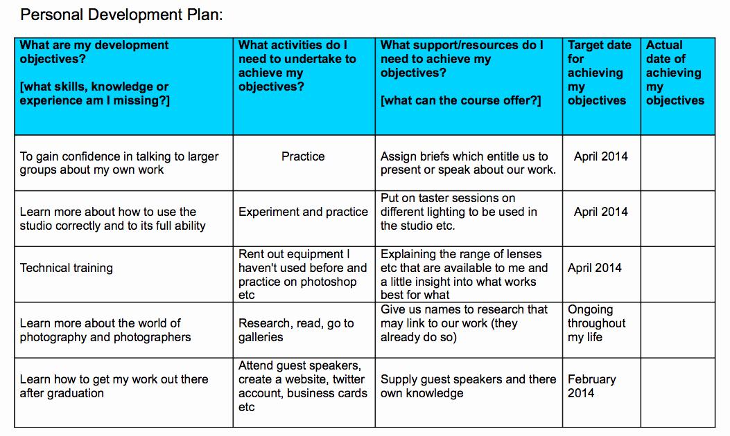 Professional Development Plan Template New Personal Development Plan Professional Frameworks 3
