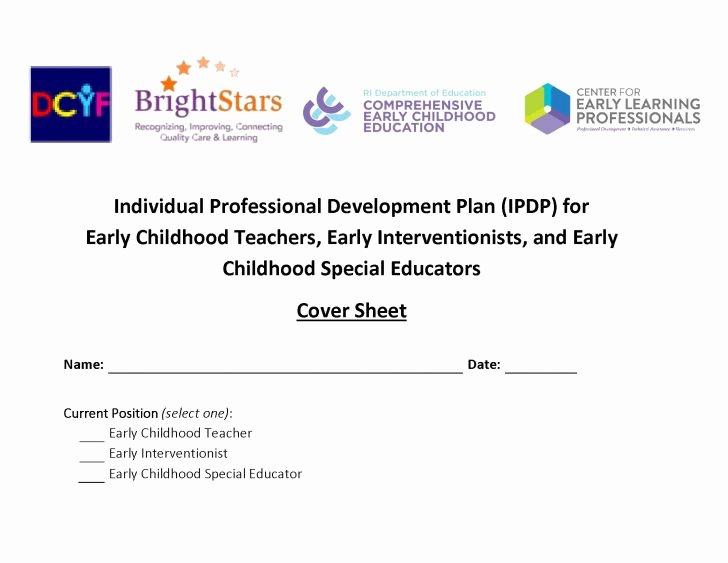 Professional Development Plan Template Unique Individual Professional Development Plan for Teachers