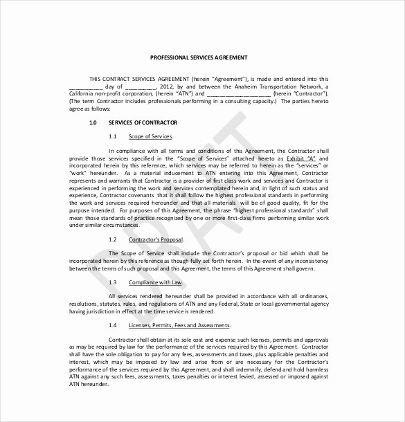 Professional Services Agreement Template Elegant 35 Service Agreement Templates Word Pdf