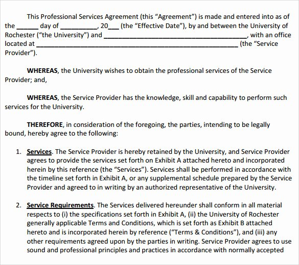 Professional Services Agreement Template Fresh Sample Professional Services Agreement 12 Free In Pdf Word