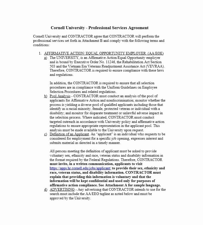 Professional Services Agreement Template New 50 Professional Service Agreement Templates & Contracts