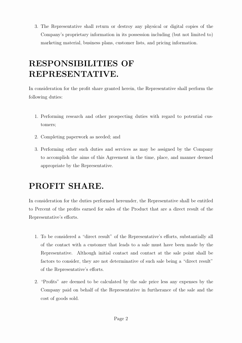 Profit Sharing Agreement Template Awesome Agreements Profit Sharing Agreement Template Template