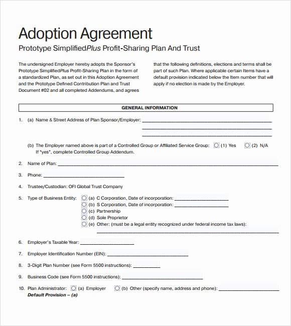 Profit Sharing Agreement Template Inspirational Profit Sharing Agreement – 9 Free Samples Examples format