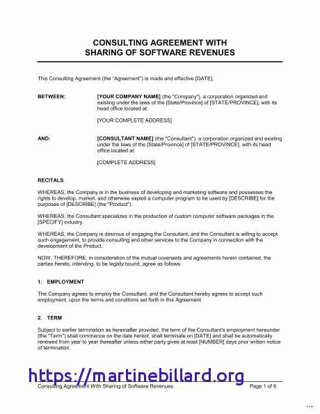 Profit Sharing Agreement Template Lovely Profit Sharing Agreement Template