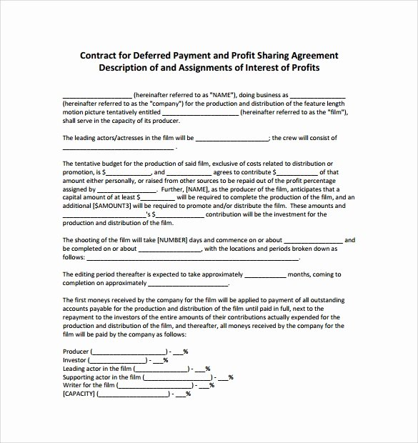 Profit Sharing Plan Template Fresh 14 Profit Sharing Agreement Templates – Pdf Doc