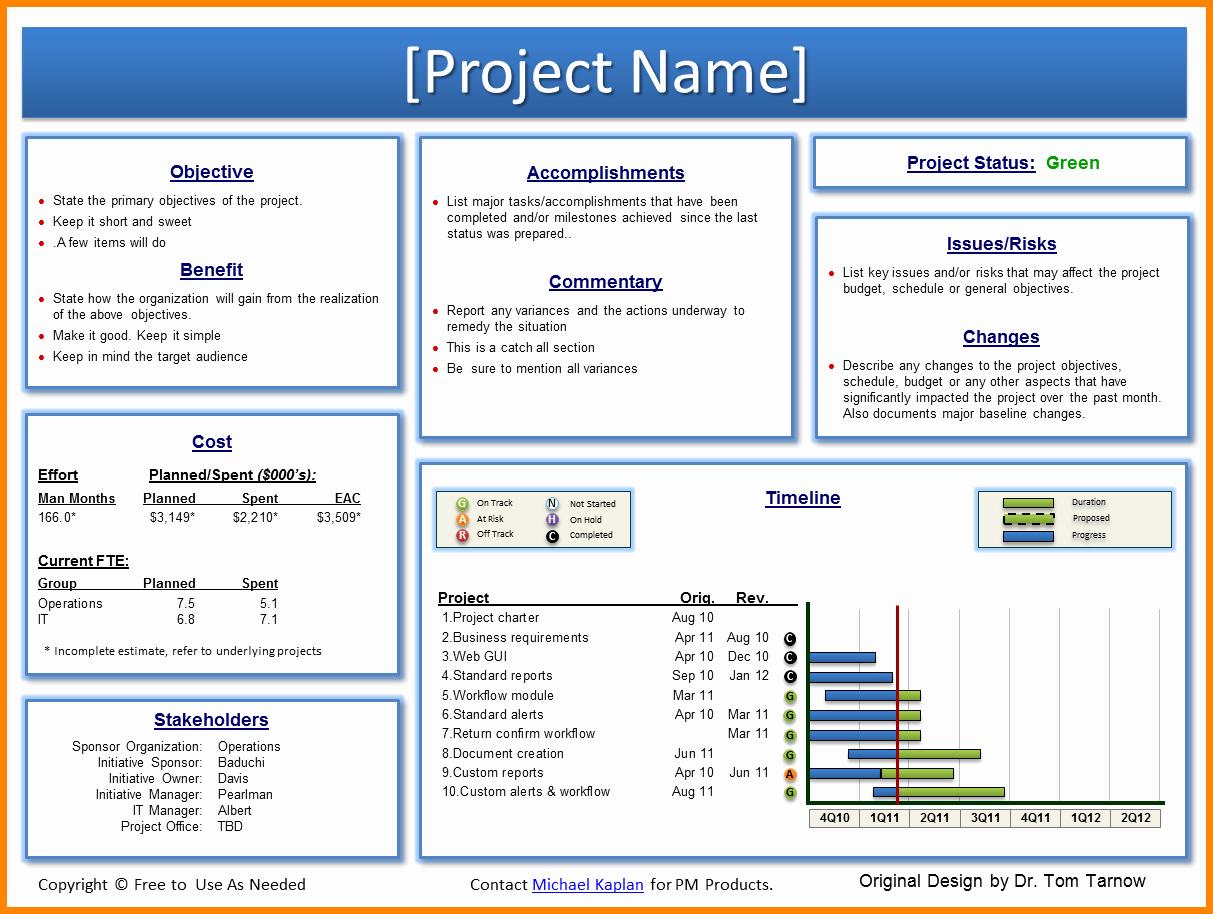 Program Status Report Template New 8 Project Status Report