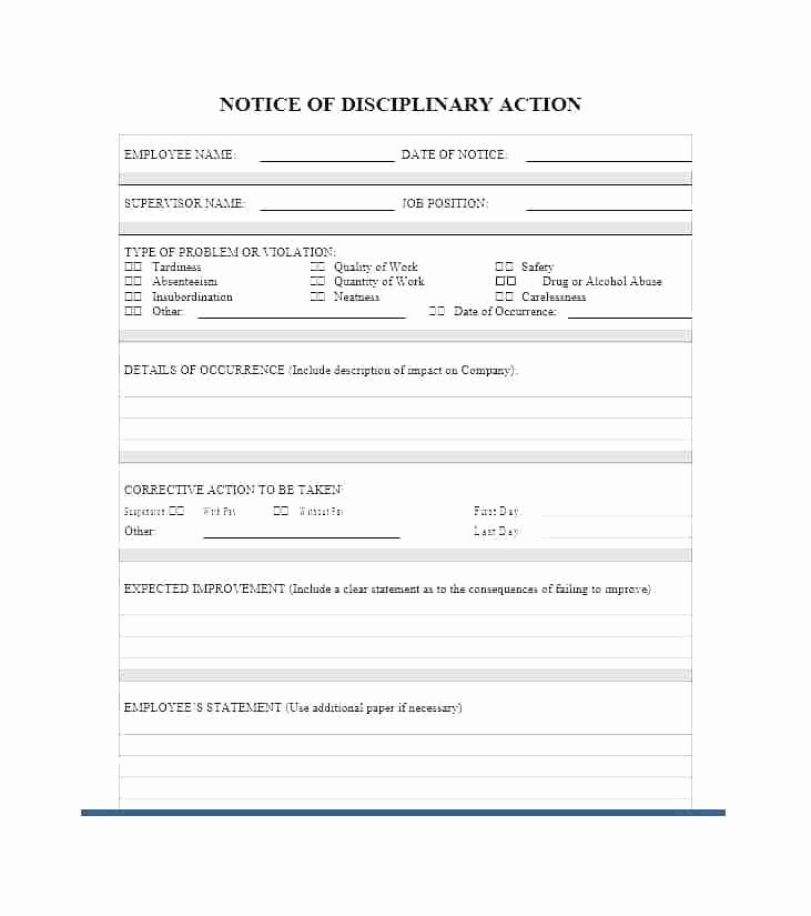 Progressive Discipline form Template Fresh Progressive Discipline Process Employee Written Warning