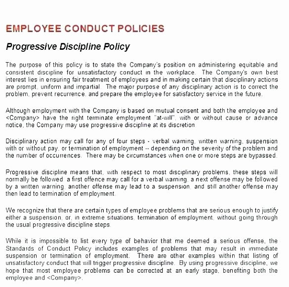 employee write up form template elegant progressive discipline disciplinary action