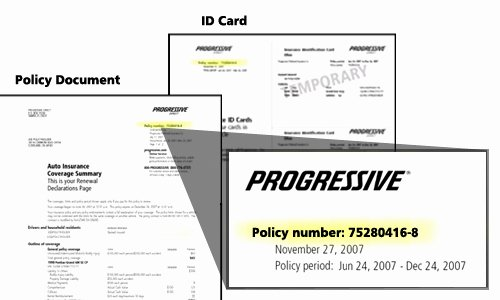 Progressive Insurance Card Template Best Of 23 Of Michigan Auto Insurance Card Template