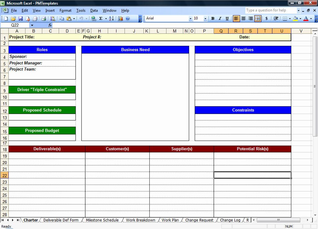 Project Charter Template Excel Inspirational Excel Spreadsheets Help Free Download Project Management