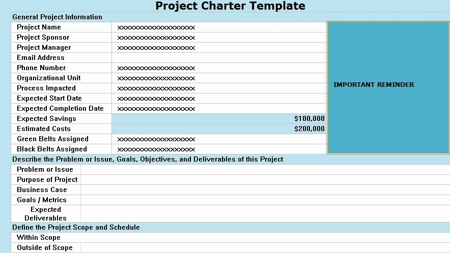 Project Charter Template Excel Lovely New Product Charter Example Project Charter