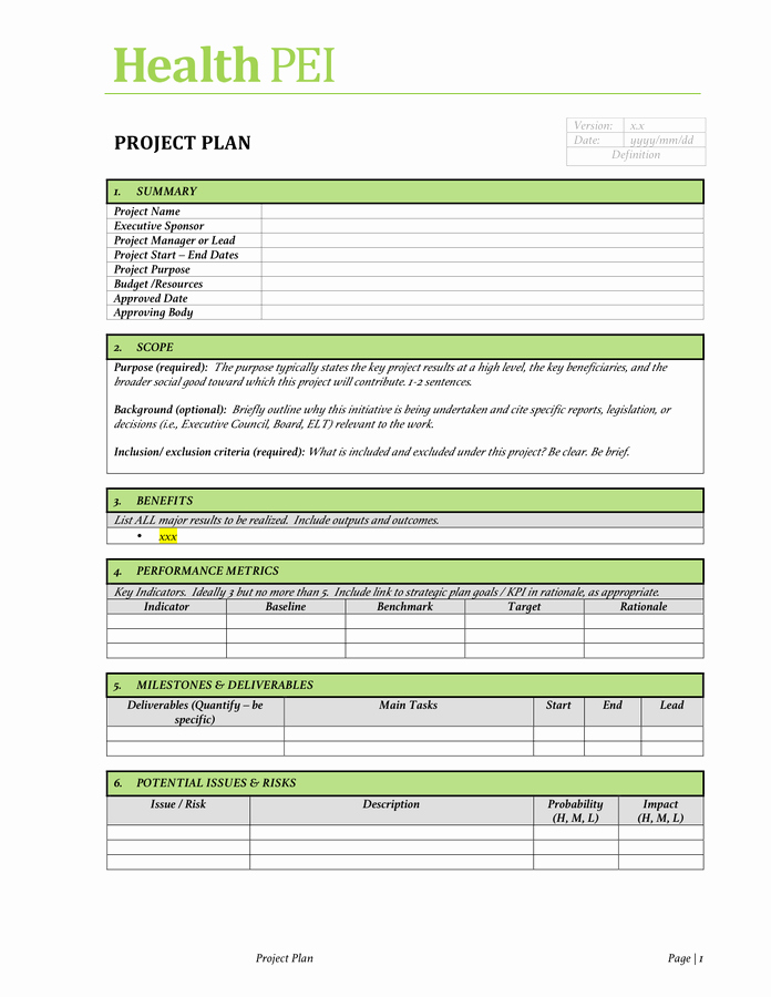 Project Charter Template Excel Unique Project Charter Template Free Documents for Pdf