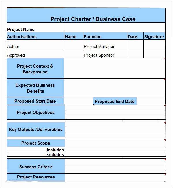 Project Charter Template Free New Nwachifelix