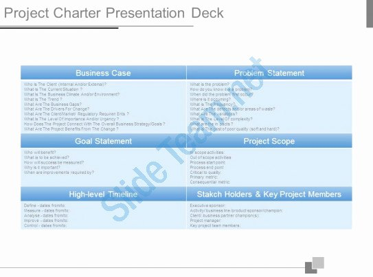Project Charter Template Ppt Awesome Project Charter Presentation Deck