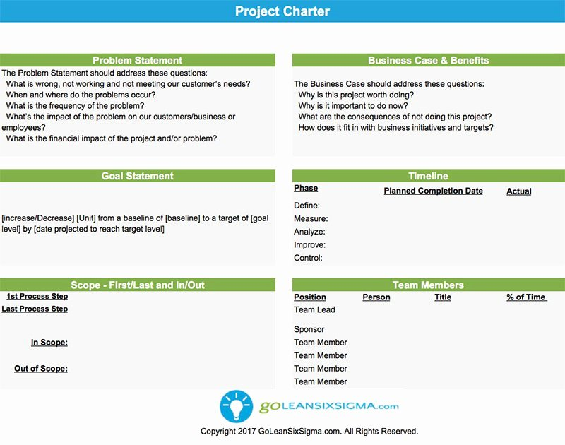 Project Charter Template Ppt Lovely Project Charter Template & Example