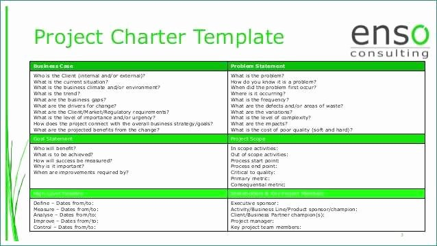 Project Charter Template Ppt Lovely Six Sigma Project Charter Template Ppt Luxurious Project