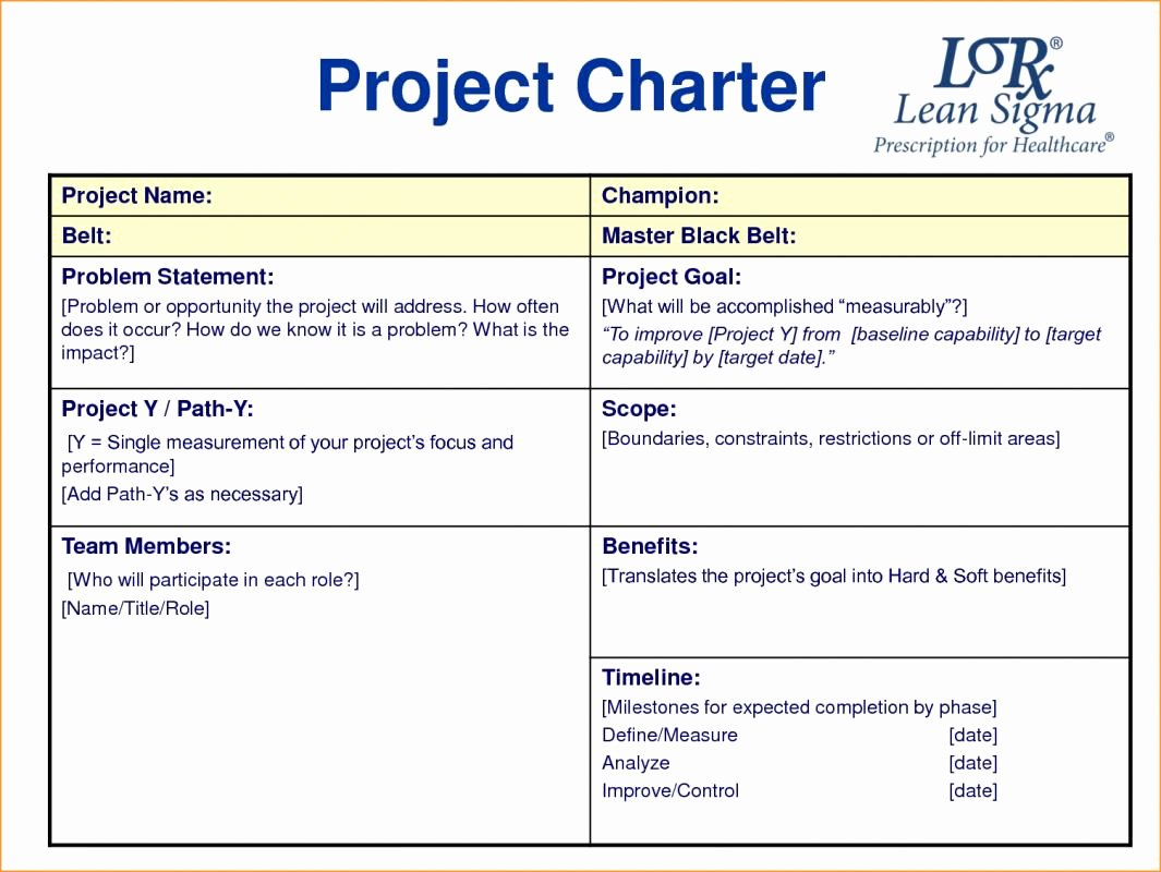 Project Charter Template Word Fresh Project Charter Example