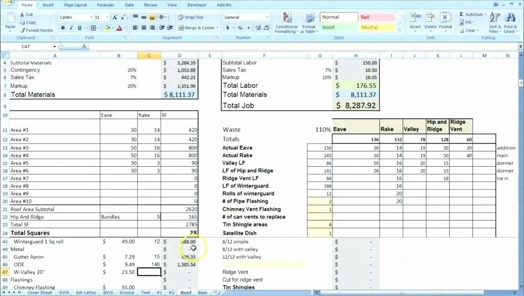 Project Cost Estimate Template Best Of Construction Cost Estimating Spreadsheet Home Building