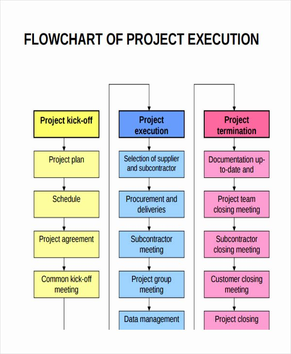 Project Execution Plan Template Luxury Project Flow Chart Templates 6 Free Word Pdf format