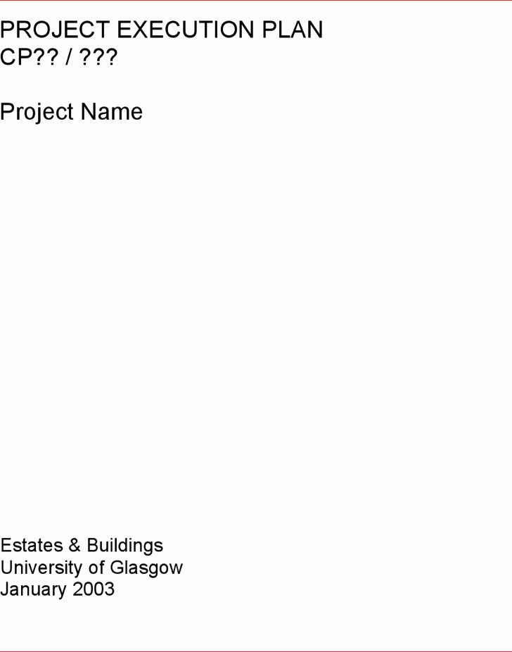 Project Execution Plan Template New 8 Project Plan Templates Free Download