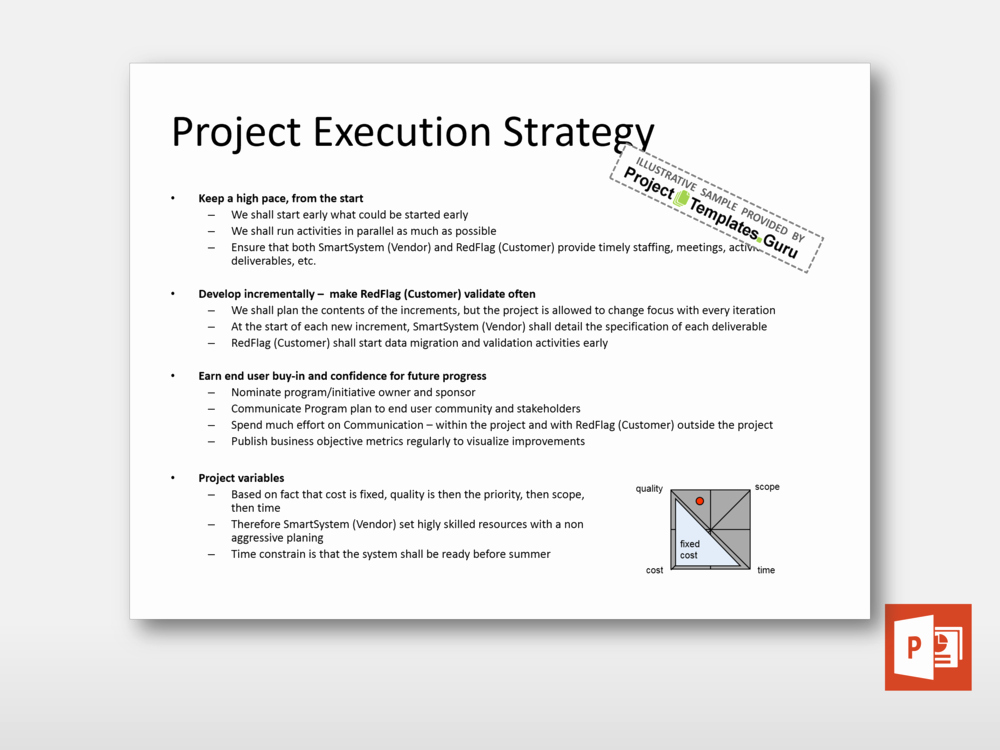 Project Execution Plan Template New Project Execution Strategy Project Templates Guru