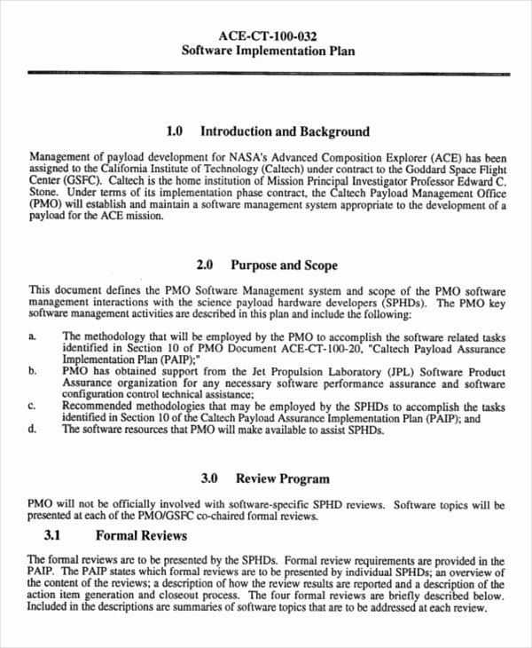 Project Implementation Plan Template Beautiful Project Implementation Template 6 Free Word Pdf